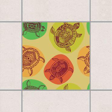 Fliesenaufkleber - Schildkröten der Weltmeere