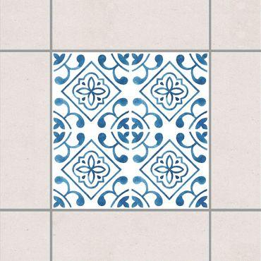Adesivo per piastrelle - Blue White Pattern Series No.2 10cm x 10cm