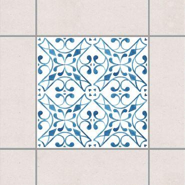 Adesivo per piastrelle - Blue White Pattern Series No.3 10cm x 10cm