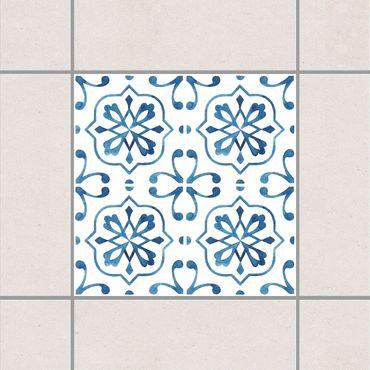 Adesivo per piastrelle - Blue White Pattern Series No.4 10cm x 10cm