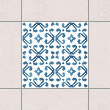 Adesivo per piastrelle - Blue White Pattern Series No.7 10cm x 10cm