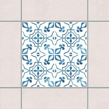 Adesivo per piastrelle - Blue White Pattern Series No.9 10cm x 10cm