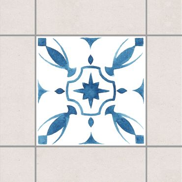 Adesivo per piastrelle - Pattern Blue White Series No.1 10cm x 10cm