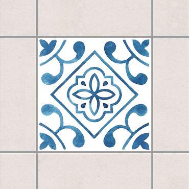 Adesivo per piastrelle - Pattern Blue White Series No.2 10cm x 10cm