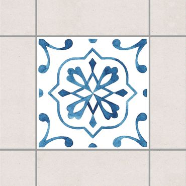 Adesivo per piastrelle - Pattern Blue White Series No.4 10cm x 10cm