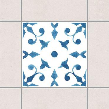 Adesivo per piastrelle - Pattern Blue White Series No.6 10cm x 10cm