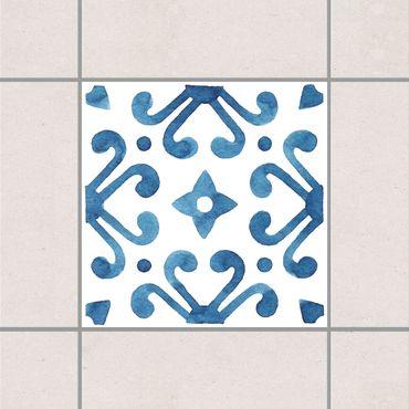Adesivo per piastrelle - Pattern Blue White Series No.7 10cm x 10cm