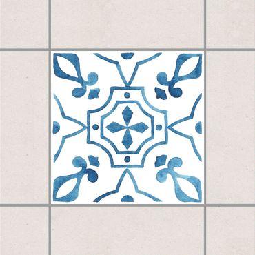 Adesivo per piastrelle - Pattern Blue White Series No.9 10cm x 10cm