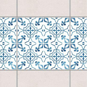 Bordo adesivo per piastrelle - Blue White Pattern Series No.9 15cm x 15cm