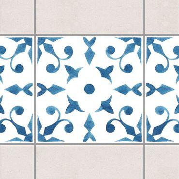 Bordo adesivo per piastrelle - Pattern Blue White Series No.6 20cm x 20cm
