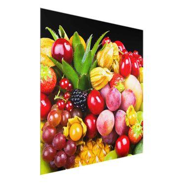 Quadro in vetro - Fruit bokeh - Quadrato 1:1