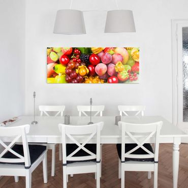 Quadro in vetro - Colorful Exotic Fruits - Panoramico