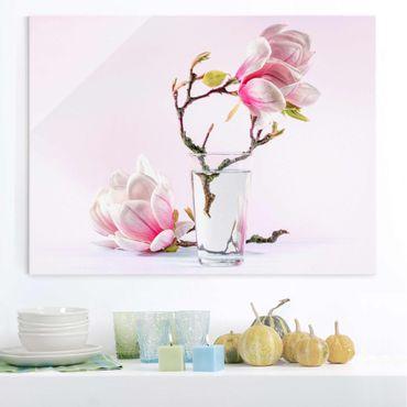 Quadro in vetro - Magnolia in glass - Orizzontale 4:3