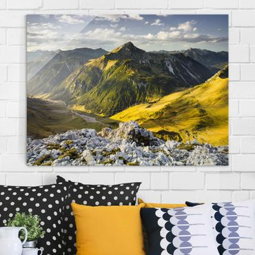 Quadro in vetro - Mountains and valley of the Lechtal Alps in Tirol - Orizzontale 4:3