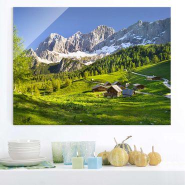 Quadro in vetro - Styria Alpine meadow - Orizzontale 4:3
