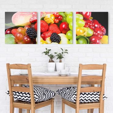 Quadro in vetro - fruit mix - 3 parti set