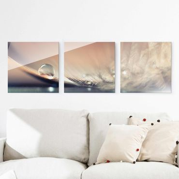 Quadro in vetro - Story of a Water Drop - 3 parti set