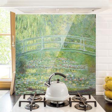 Paraschizzi in vetro - Claude Monet - Japanese bridge - Quadrato 1:1