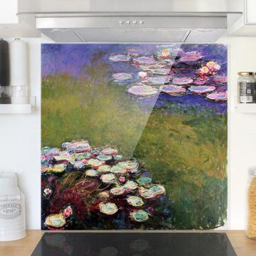 Paraschizzi in vetro - Claude Monet - Water Lilies - Quadrato 1:1