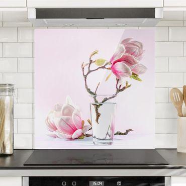 Paraschizzi in vetro - Magnolia in glass - Quadrato 1:1