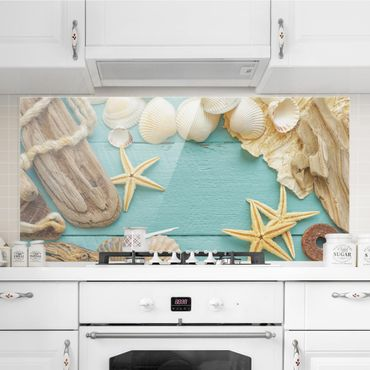Paraschizzi in vetro - Shells and driftwood - Orizzontale 1:2