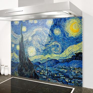 Paraschizzi in vetro - Vincent van Gogh - Starry Night - Orizzontale 3:4