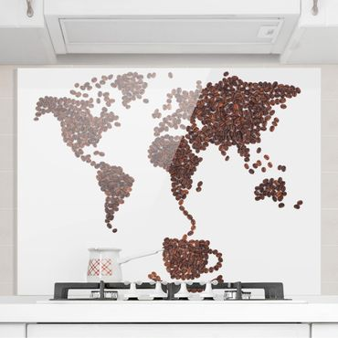 Paraschizzi in vetro - Coffee around the world - Orizzontale 3:4