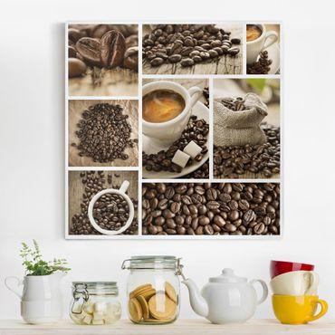 Stampa su tela - coffee collage - Quadrato 1:1