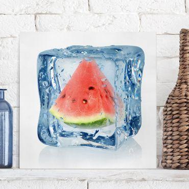 Stampa su tela - Melon in ice cube - Quadrato 1:1