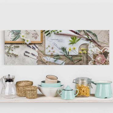 Stampa su tela - Flowers and garden herbs Vintage - Orizzontale 2:1