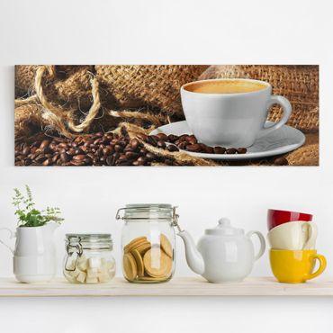 Stampa su tela - Morning coffee - Orizzontale 2:1