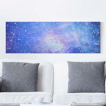 Stampa su tela - Constellation sky map - Orizzontale 2:1