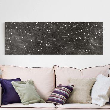 Stampa su tela - Constellation map panel optics - Orizzontale 2:1