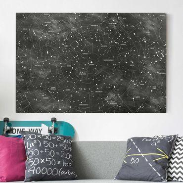 Stampa su tela - Constellation map panel optics - Orizzontale 3:2