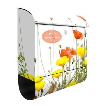 Cassetta postale personalizzata Wild Flowers 39x46x13cm