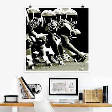 Poster - Football americano - Quadrato 1:1