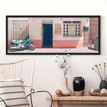 Poster con cornice - Minimarket Vintage - Panorama formato orizzontale