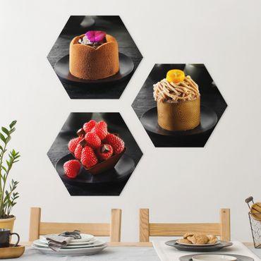 Esagono in forex - Torta al cioccolato con lamponi