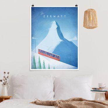 Poster - Poster di viaggio - Zermatt - Verticale 4:3
