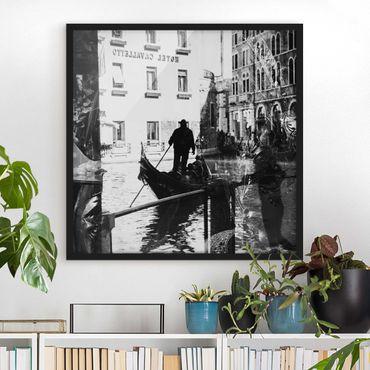 Poster con cornice - Venice Reflections - Quadrato 1:1