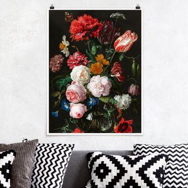 Poster - Jan Davidsz De Heem - Natura morta con fiori in un vaso di vetro - Verticale 4:3
