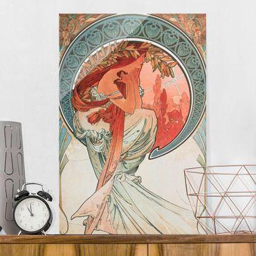 Quadro in vetro - Alfons Mucha - Quattro arti - Poesia - Verticale 3:2