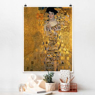 Poster - Gustav Klimt - Ritratto di Adele Bloch-Bauer I - Verticale 4:3