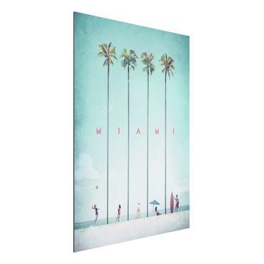 Stampa su alluminio - Poster viaggio - Miami - Verticale 4:3