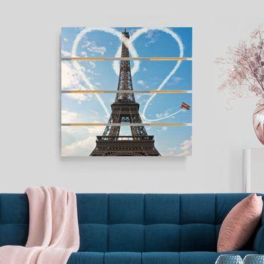 Stampa su legno - Parigi - Città Of Love - Quadrato 1:1