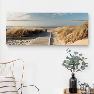 Stampa su legno - Spiaggia del Mar Baltico - Orizzontale 2:5