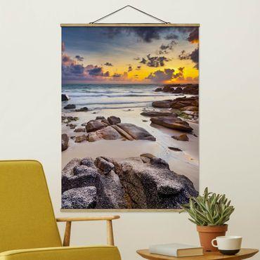 Foto su tessuto da parete con bastone - Sunrise Beach In Thailandia - Verticale 4:3