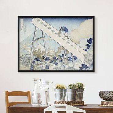 Poster con cornice - Katsushika Hokusai - In The Totomi Mountains - Orizzontale 3:4