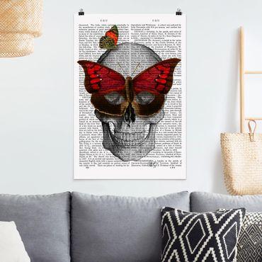 Poster - Spaventoso Reading - Maschera farfalla - Verticale 3:2