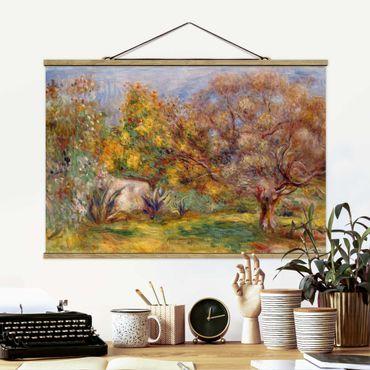 Foto su tessuto da parete con bastone - Auguste Renoir - Olive Garden - Orizzontale 2:3